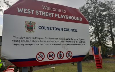 Damage to Colne's recently upgraded West Street Play area.